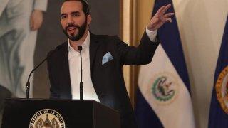 El presidente de El Salvador Nayib Bukele.