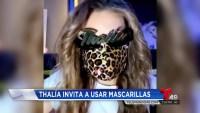 Thalía promueve el uso de mascarillas para protegerse del COVID-19
