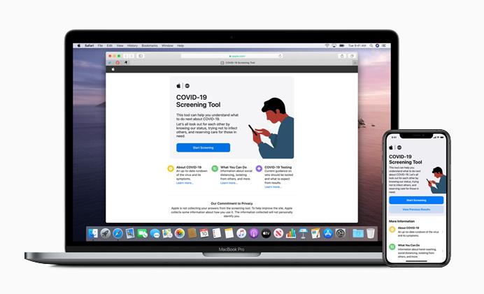 Aplicación COVID-19 de Apple