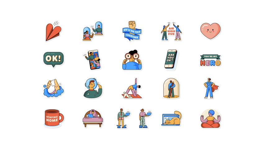 Nuevos stickers de Whatsapp creados en alianza con la OMS