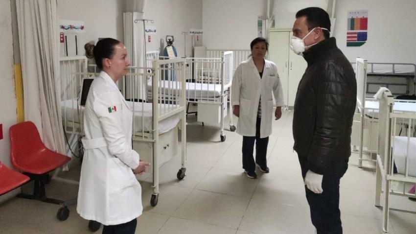 Gobernador de Hidalgo visita hospital