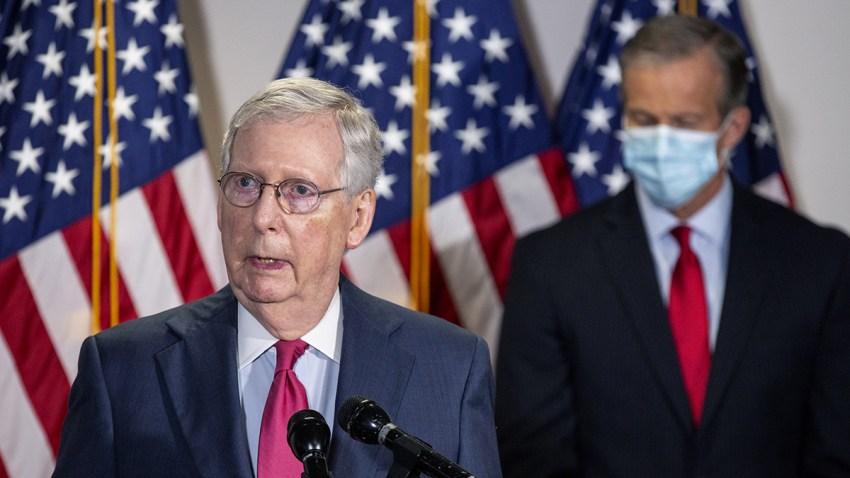 En la foto, el líder de la mayoría del Senado Mitch McConnell, el 19 de mayo.