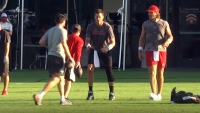 Exclusiva: Tom Brady práctica por primera vez con los Buccaneers