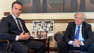 Candidato al gobierno de Nuevo León acude a la OEA para denunciar a AMLO