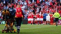 Futbolista se desploma en pleno partido de la Eurocopa