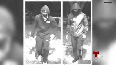 Buscan a sospechosos encapuchados que robaron ATM en Polk