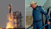 El multimillonario Jeff Bezos logra exitoso primer vuelo al espacio con su propia nave