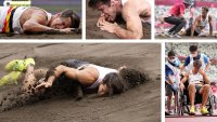 Impactante caída: atleta sale malherido en busca de una medalla tras sobrevivir al cáncer